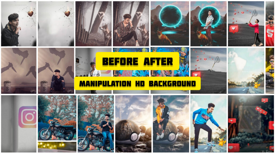 BEFOR AND AFTER MANIPULATOIN HD BACKGROUND