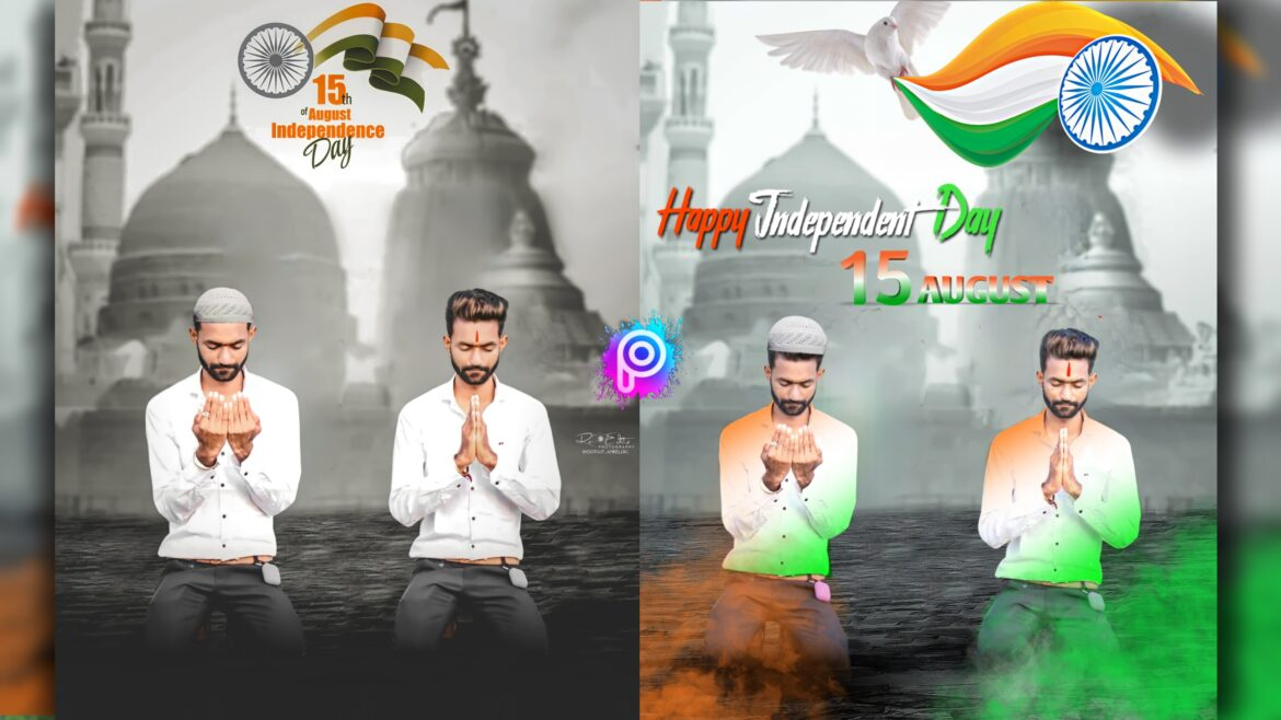 Happy Independence Day 15th August Picsart Tutorial