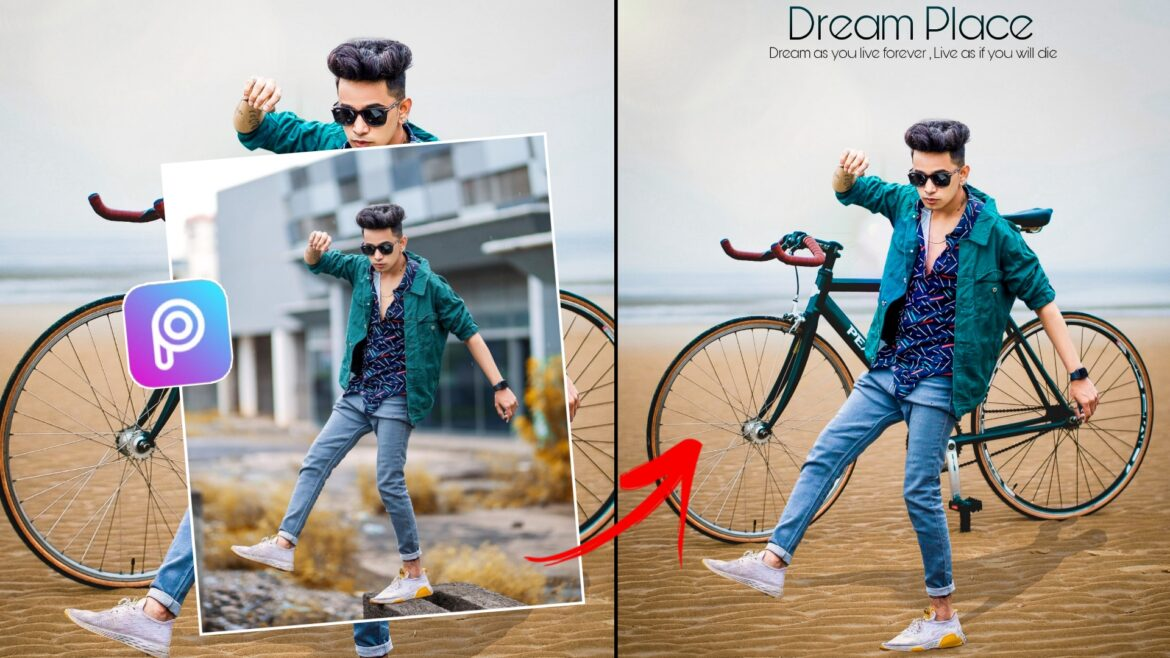 Cycle Background Photo Editing