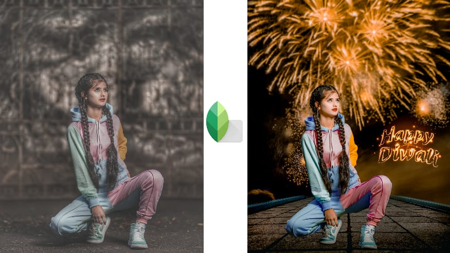 Happy Diwali Best Pose By Girls Photo Editing Presets